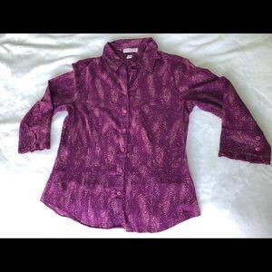 Cold water creek women's Button down blouse